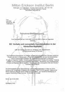 Verbale und nonverbalen Kommunikation in der klinischen Hypnose