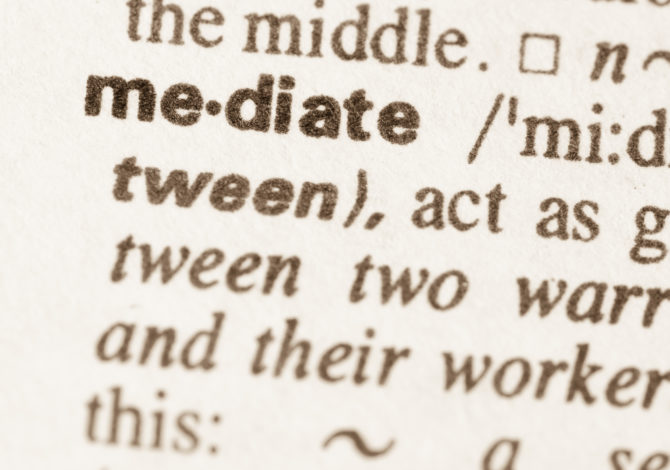 Definition of word mediate in dictionary