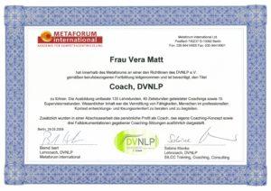 Coach, DVNLP