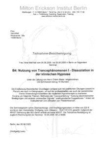 Qualifizierungen: klinische Hypnose MEG