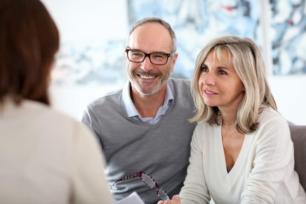 älteres Unternehmer Paar