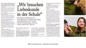 Liebeskunde: Vera Matt in der FAZ