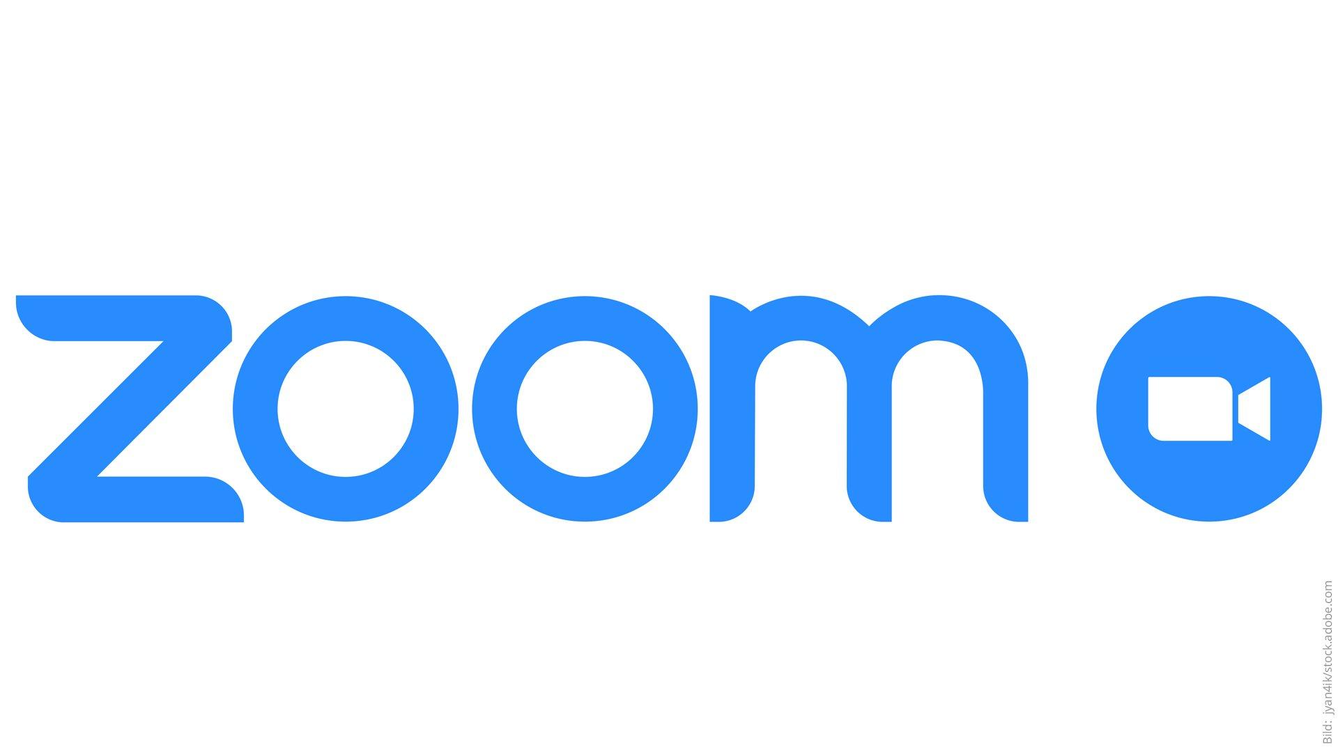 Wie funktioniert Zoom? Zoom Schriftzug.